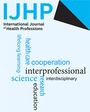 Word Cloud der IJHP - dem International Journal of Health Professions